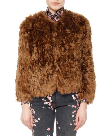 Agga Bracelet-Sleeve Alpaca Jacket