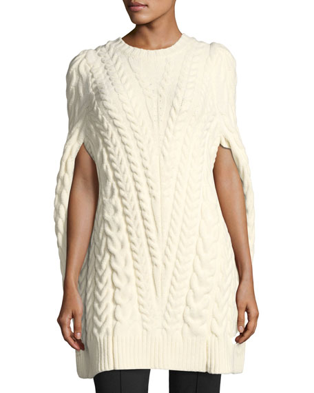 Derek Lam Cable Knit Poncho Sweater