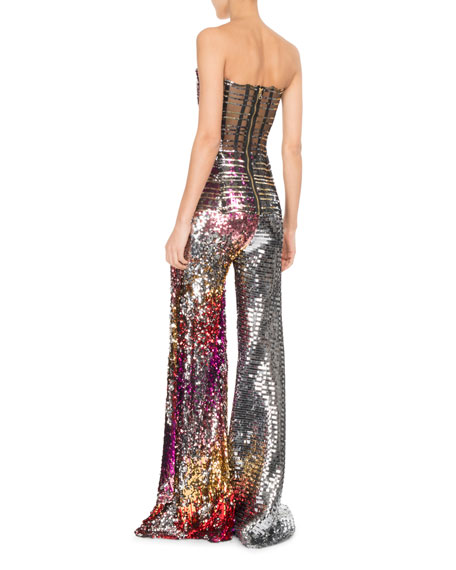 Strapless Sequined Bustier w/Draped Side