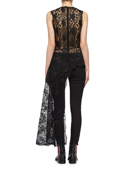 Bird Lace Top with Train