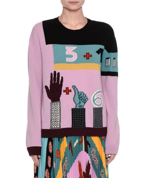 Counting Intarsia Virgin Wool Sweater