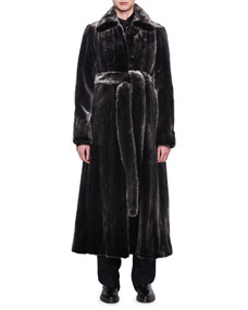 Neyton Belted Mink Fur Coat by The Row