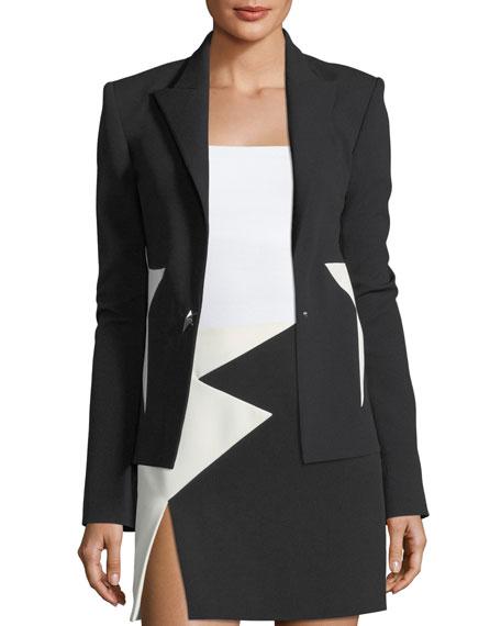 Bicolor Crepe Star Jacket