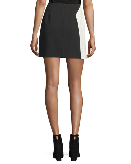Bicolor Star Crepe Mini Skirt