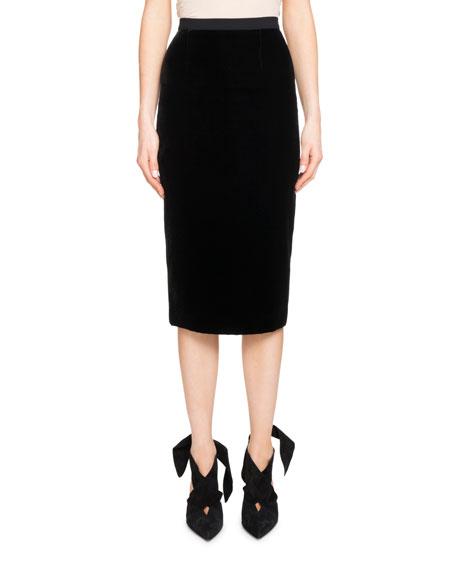 Arreton Velvet Pencil Skirt