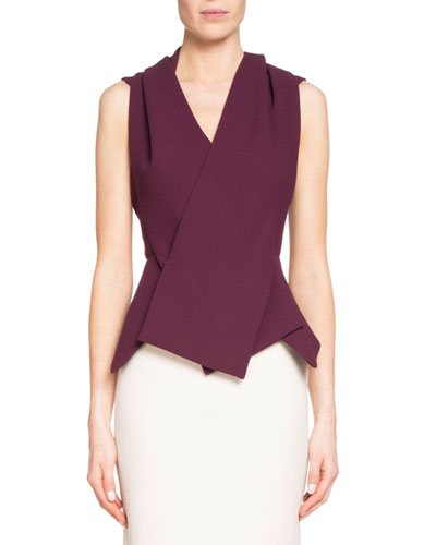 Zillow Sleeveless Pleated Top