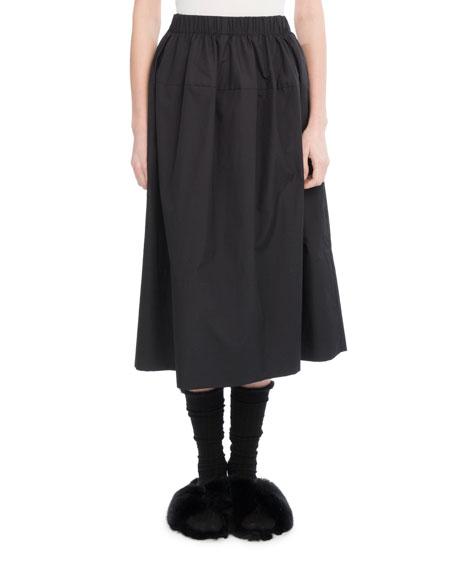 Cotton Lantern Skirt, Black
