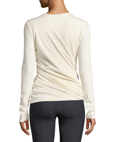 Abinah Draped Cashmere Jersey Top