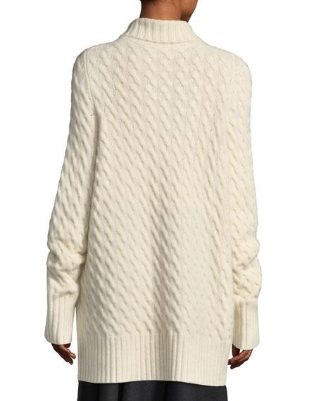 Landi Cable-Knit Cashmere Tunic Sweater