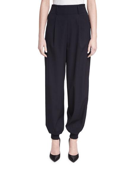 Silviana Virgin Wool Jogger Pants