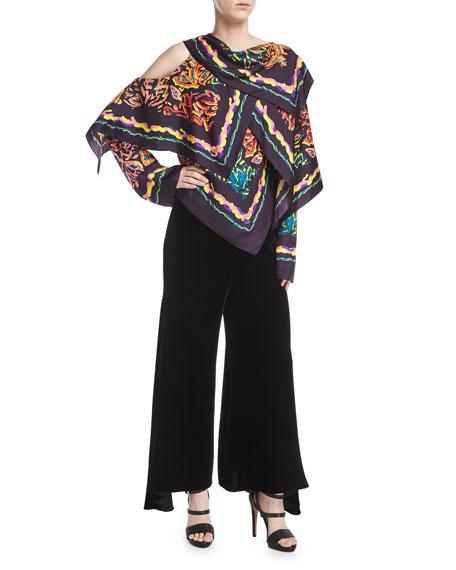 Wide-Leg Velvet Culottes