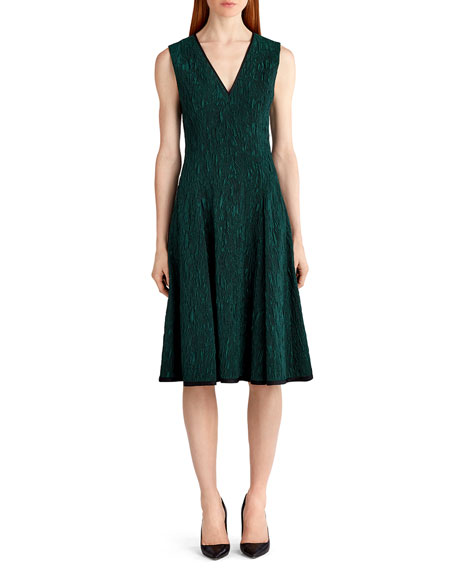 Jason Wu Sleeveless Cloque Jacquard Dress