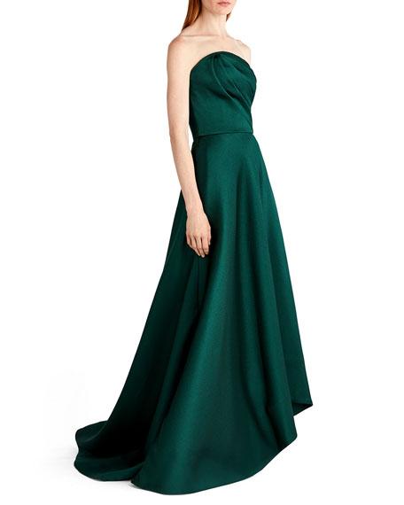Satin Strapless Evening Gown