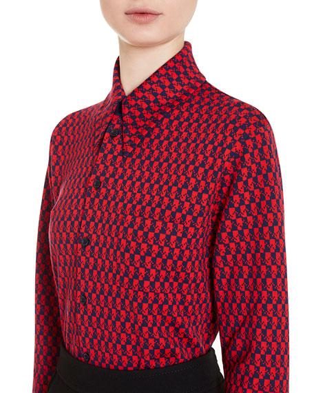 Bicolor Wool Shirt, Purple