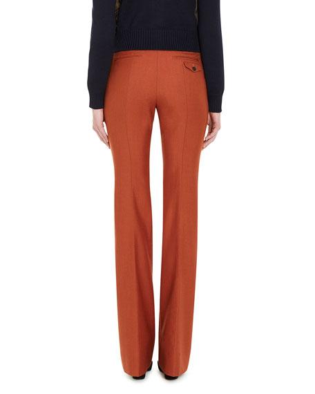 Flared Wide-Leg Pants, Orange