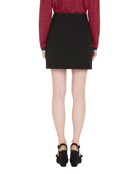 Virgin Wool A-Line Skirt