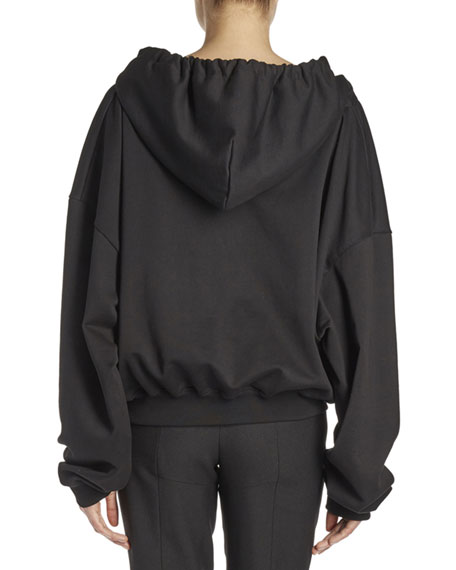 Off-the-Shoulder Hoodie Sweatshirt