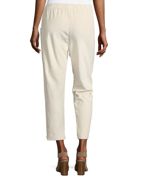 Cropped Corduroy Jogger Pants