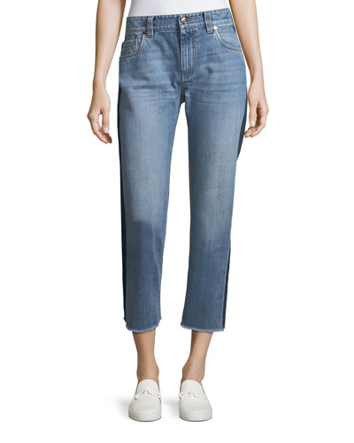 Cropped Light Wash Denim Jeans