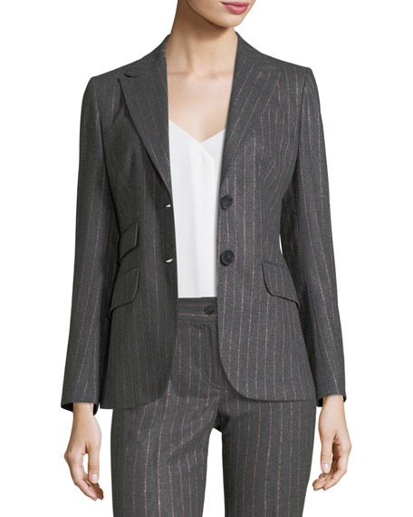 Pinstriped Riding Jacket