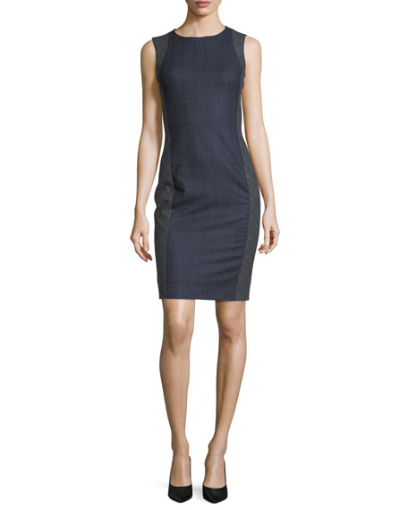 Prince of Wales Check Sheath Dress