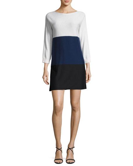 Colorblock Tunic Sweaterdress