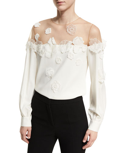 Illusion Off-Shoulder Blouse