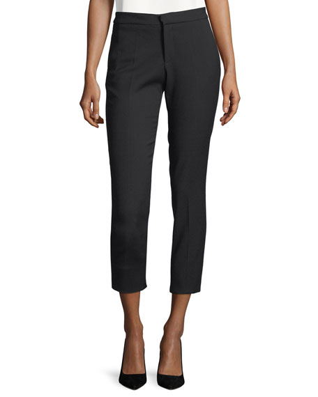 Cropped Stretch-Twill Pants