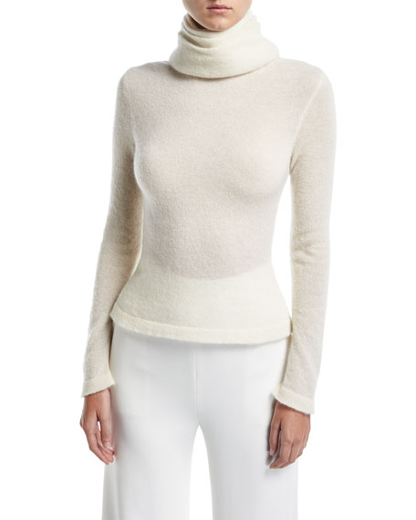 Layered Funnel-Neck Sweater