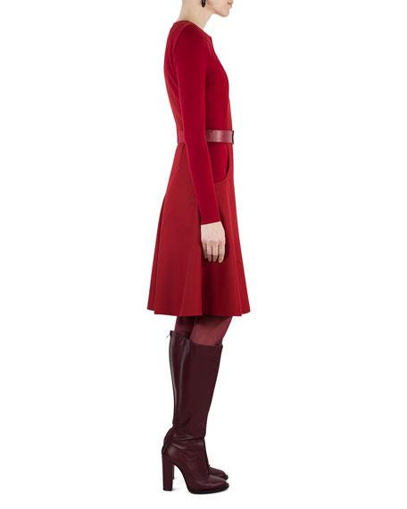 Long-Sleeve Zip-Front Dress