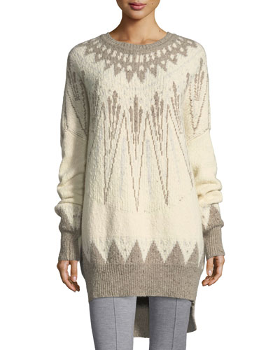Long Fair Isle Sweater