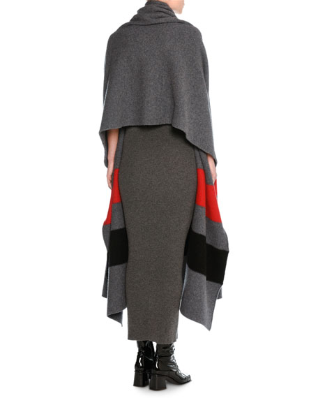 Colorblock Wool Wrap