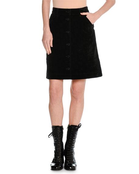 A-Line Stretch-Cotton Skirt