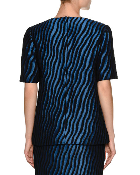 Zebra Short-Sleeve Top