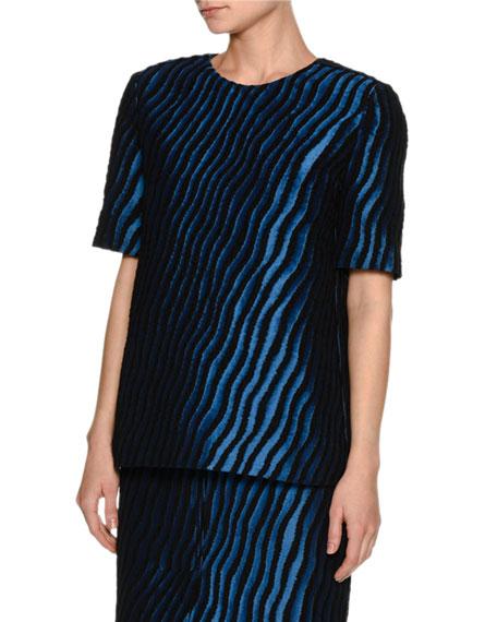 Zebra Short-Sleeve Top
