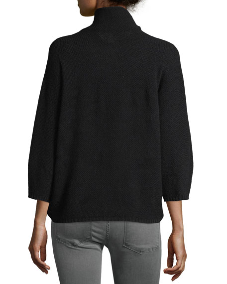 Bracelet-Sleeve Turtleneck Sweater