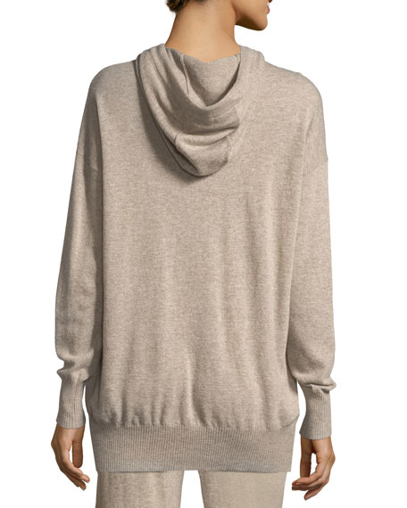 Wool/Cashmere Knit Pullover Hoodie