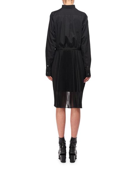 Knit Long-Sleeve Combo Dress