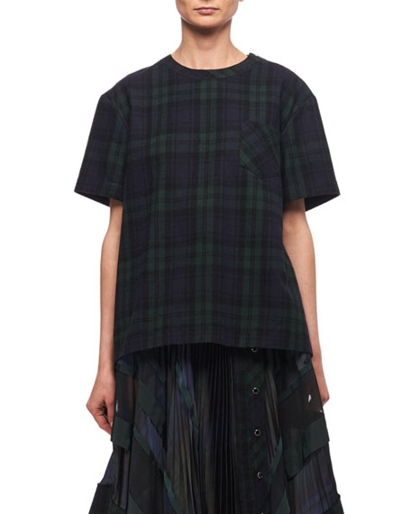 Plaid Short-Sleeve Top
