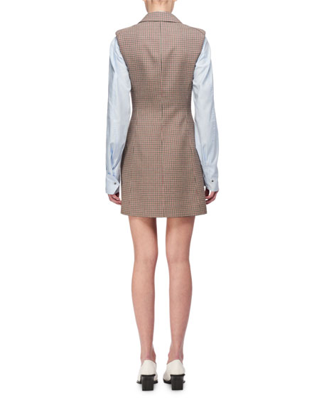 Check Wool Blazer Dress