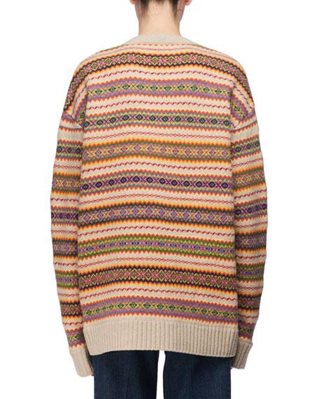 Crewneck Knit Fair Isle Sweater