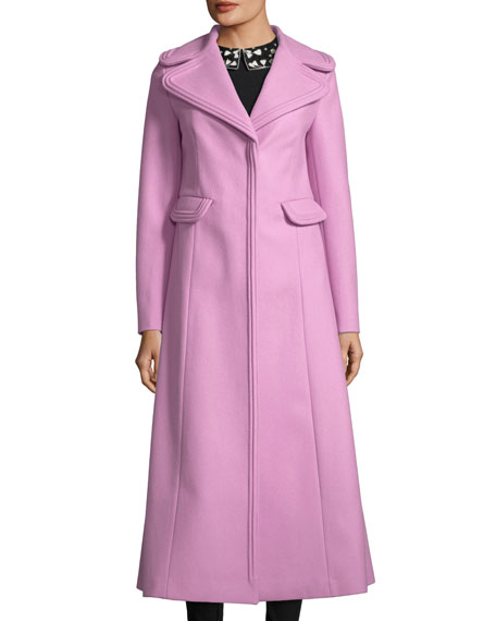 Long Notch-Collar Coat