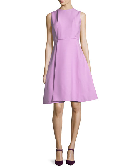 Sleeveless A-Line Crepe Couture Dress