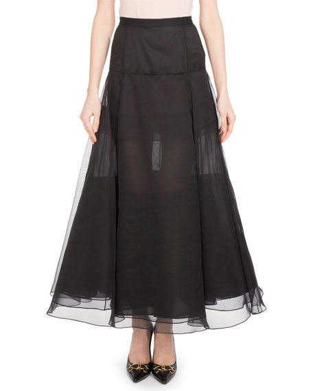 Long Organza Skirt