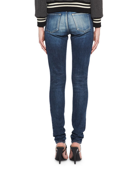 Medium Wash Denim Jeans, Blue