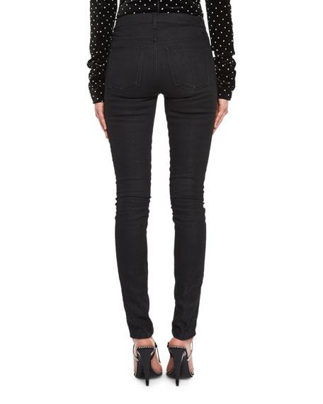 Mid-Rise Skinny Jeans, Black