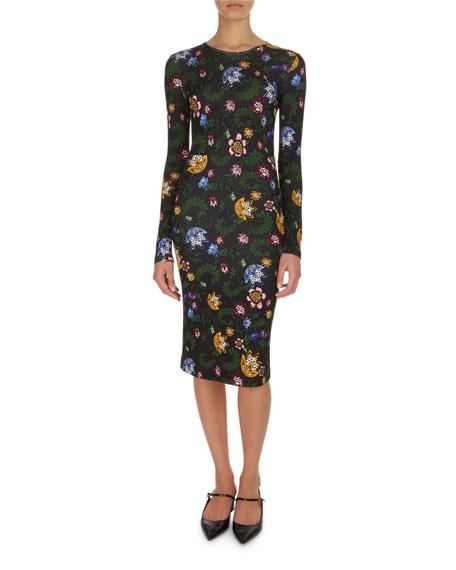 Eileen Bebek Garden Fitted Long-Sleeve Dress