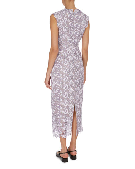 Eleri Guipure Lace Midi Cocktail Dress