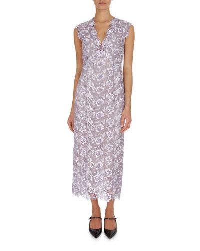 Eleri Guipure Lace Midi Cocktail Dress