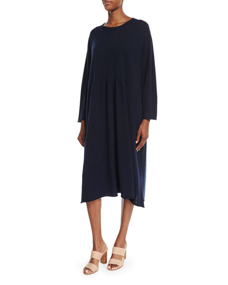 Long-Sleeve Cashmere Dress